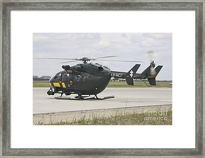 A Eurocopter Ec145 Helicopter Framed Print by Timm Ziegenthaler