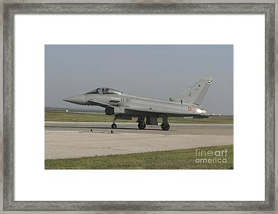 A Eurofighter Typhoon Of The Spanish Framed Print by Timm Ziegenthaler