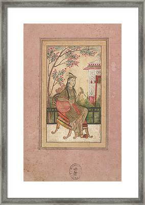 A European Lady Framed Print by British Library