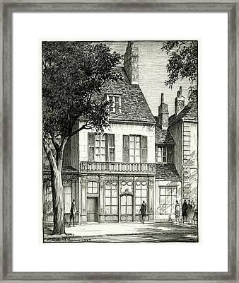 A Facade Of A Store Framed Print