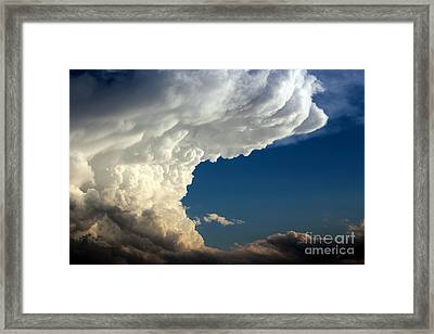 Framed Print featuring the photograph A Face In The Clouds by Barbara Chichester