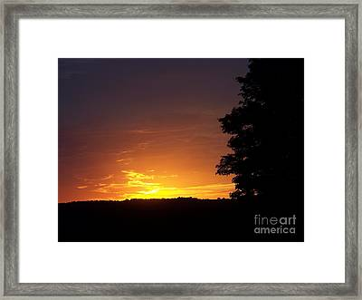 A Fading Sunset Framed Print by Steven Valkenberg
