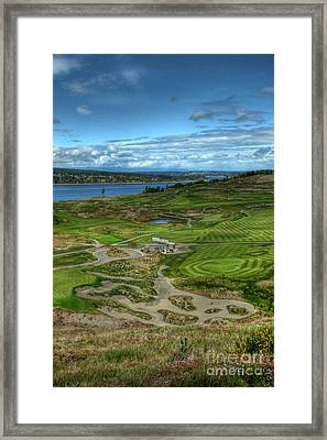 Framed Print featuring the photograph A Fairway To Heaven - Chambers Bay Golf Course by Chris Anderson