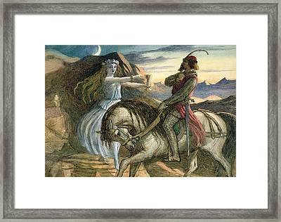A Fairy And A Knight Framed Print by Richard Doyle