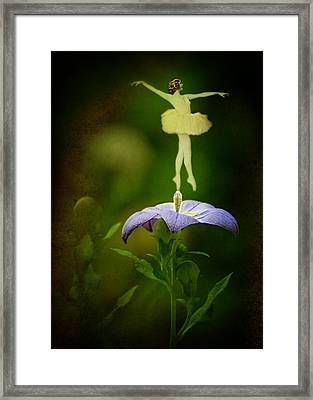 A Fairy In The Garden Framed Print by Rebecca Sherman