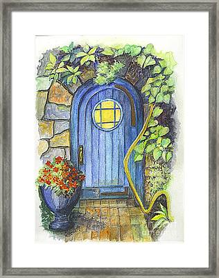 A Fairys Door Framed Print by Carol Wisniewski