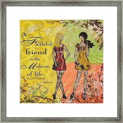 A Faithful Friend Inspirational Christian Artwork  Framed Print