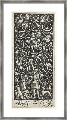 A Falconer Surrounded By Dogs, Bartholomeus Van Lochom Framed Print by Bartholomeus Van Lochom And Hans Janssen And Frederik De Wit