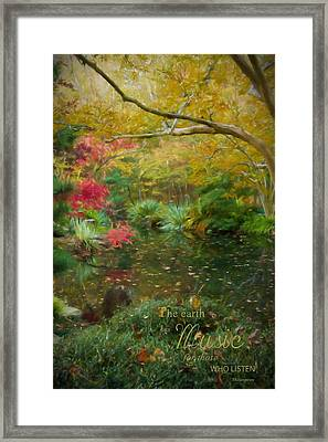 A Fall Afternoon With Message Framed Print