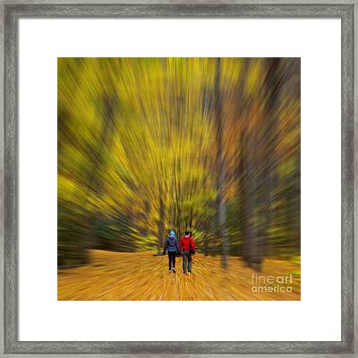 A Fall Stroll Taughannock Framed Print by Jerry Fornarotto