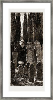 A Family Corner At The Turkish Cemetery At Scutari Framed Print