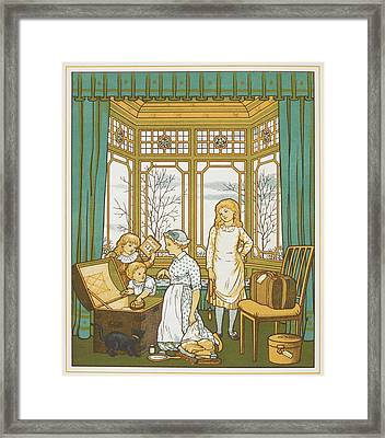 A Family Packing For A Holiday Framed Print by British Library