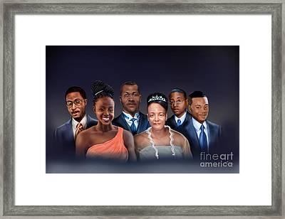 A Family Portrait Framed Print by Reggie Duffie