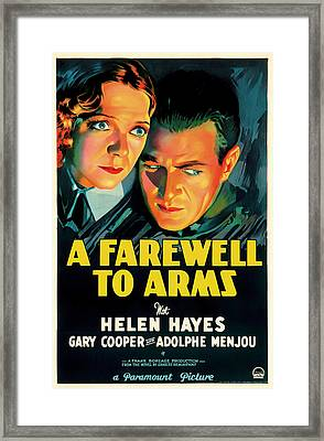 A Farewell To Arms Movie Poster 1932 Framed Print by Mountain Dreams