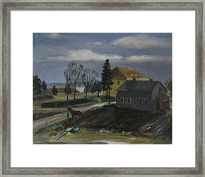 A Farm Framed Print by Jukka Nopsanen
