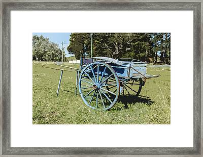 A Farm Relic From The Past Framed Print by Gary Cowling