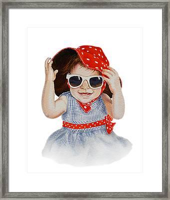 A Fashion Girl  Framed Print