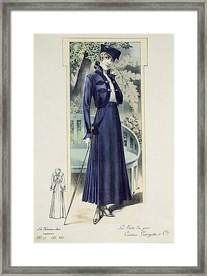 A Fashionable French Lady Framed Print by French School