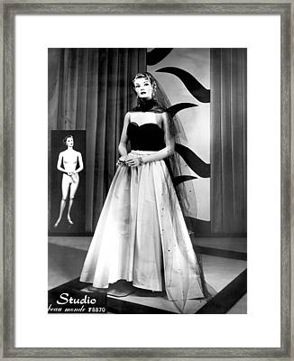 A Fashionable Mannequin Framed Print by Underwood Archives