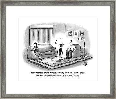 A Father Explains To His Son Framed Print