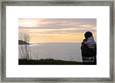 A Father's Love Framed Print by Suzanne Oesterling