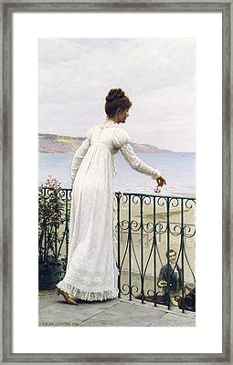 A Favour  Framed Print by Edmund Blair Leighton