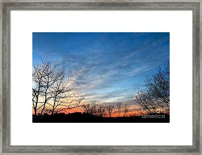 A February Sunset Framed Print by Jay Nodianos