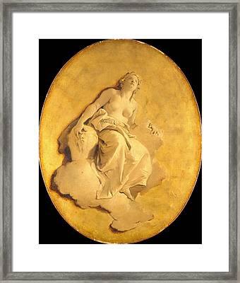 A Female Allegorical Figure Framed Print by Giovanni Battista Tiepolo