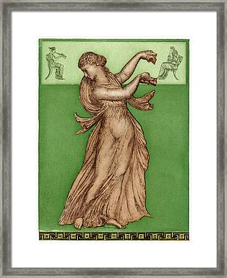 A Female Dancer Performs  Alone Framed Print by Mary Evans Picture Library