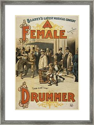 A Female Drummer Framed Print by Aged Pixel