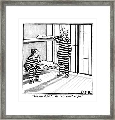 A Female Prisoner Framed Print