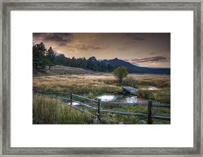 A Fence In A Field Framed Print