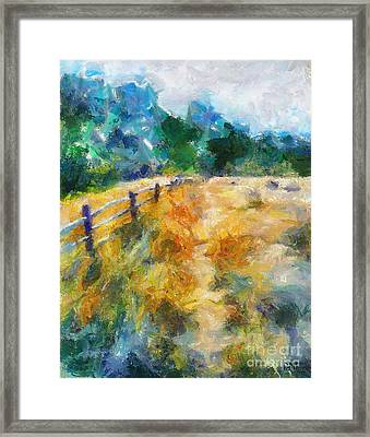 A Fence In A Marsh Framed Print by Dragica  Micki Fortuna