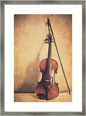 A Fiddle Framed Print by Emily Kay