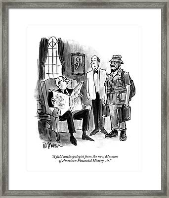 A Field Anthropologist From The New Museum Framed Print