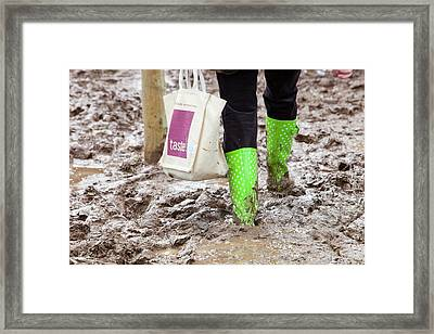 A Field Churned Up Into Mud Framed Print