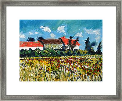 A Field In France Framed Print by Paul Sutcliffe