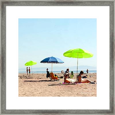 A Fine Day At The Beach Framed Print by Artist and Photographer Laura Wrede