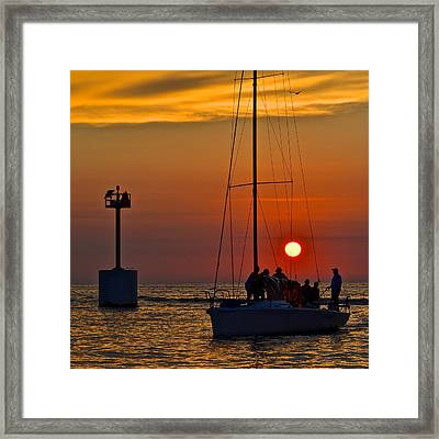 A Fine Days End Framed Print by Frozen in Time Fine Art Photography