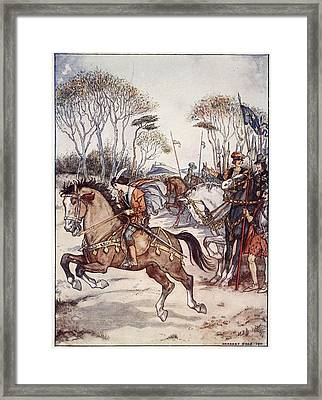 A Fine Exhibition Of Horsemanship Framed Print by Herbert Cole