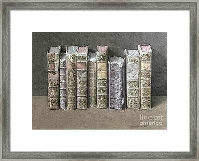 A Fine Library Framed Print by Jonathan Wolstenholme