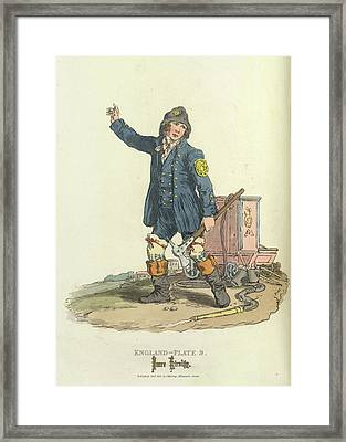 A Fireman Framed Print by British Library