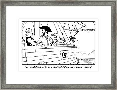A First Mate Addresses His Pirate Captain Framed Print by Alex Gregory