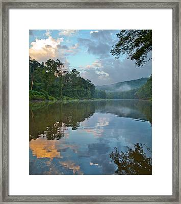 Framed Print featuring the photograph A First Smell Of Fall by Tom Cameron