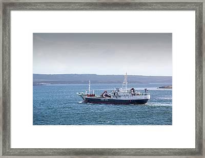A Fisheries Patrol Vessel Framed Print