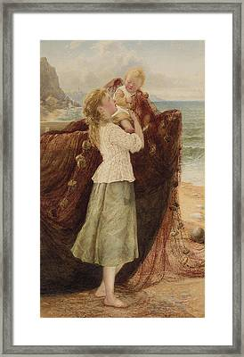 A Fisherman's Family Framed Print by Samuel McCloy