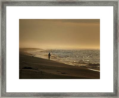 Framed Print featuring the photograph A Fisherman's Morning by GJ Blackman