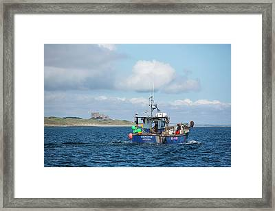 A Fishing Boat Framed Print