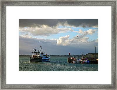 A Fishing Boat Leaving Inthe Newly Framed Print