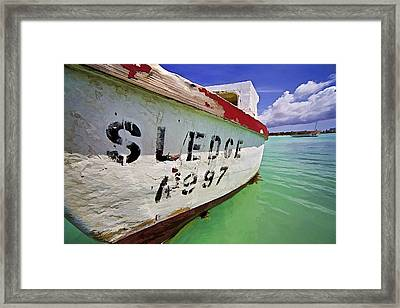 A Fishing Boat Named Sledge II Framed Print by David Letts